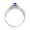 Sapphire and Diamond Open Gallery Engagement Ring. View 3