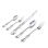 French Style Silver Flatware (Set of 5). Hypoallergenic 830/999 Silver, Stainless Steel