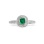 Emerald and Diamond Scrollwork Ring. View 2