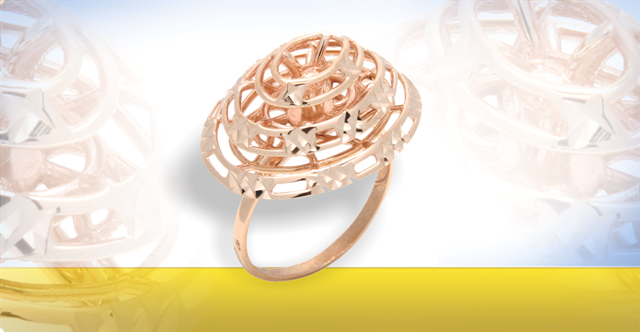 Rose Gold Jewelry: Rose Gold Rings, Earrings, Pendants and Brooches