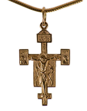 Orthodox Byzantine style cross from Russia in the USA and Canada-buy
