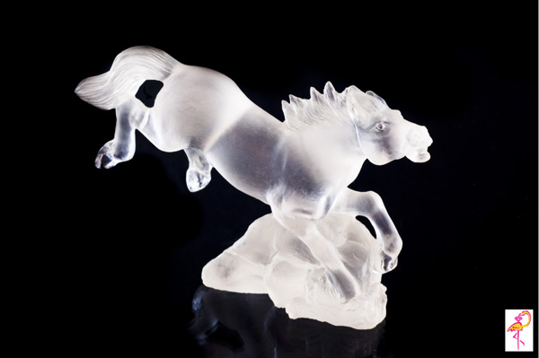 Quartz horse from the Carving Museum of the Golden Flamingo Jewelers