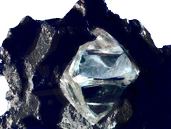Rough diamond in kimberlite