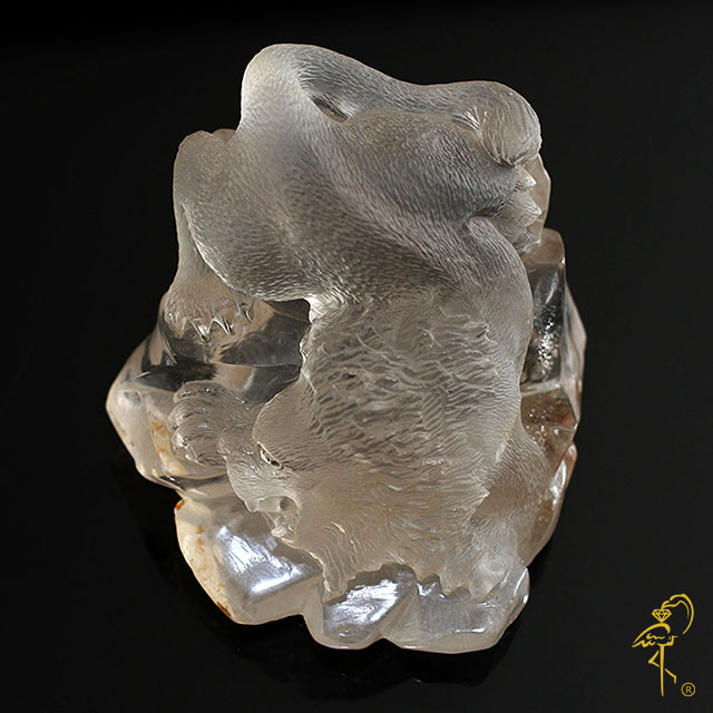 Smokey Quartz Lion from the Carving Museum of the Golden Flamingo Jewelers