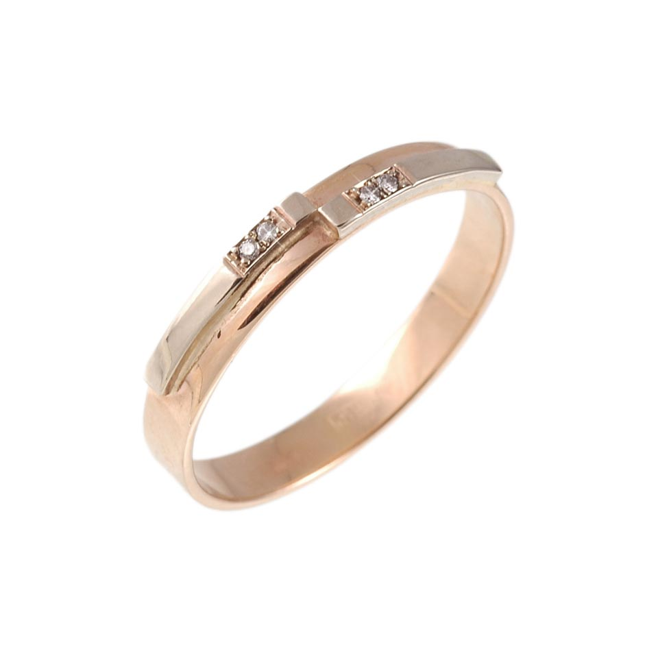 Two-tone gold wedding ring 1