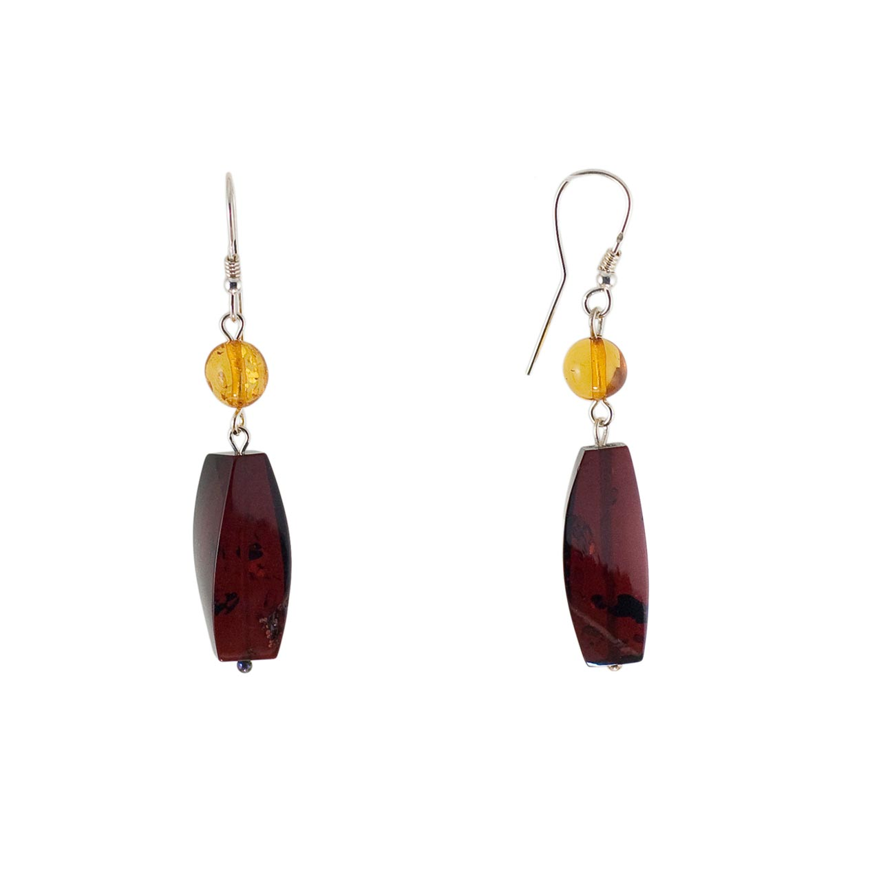Amber Geometric Drop Earrings