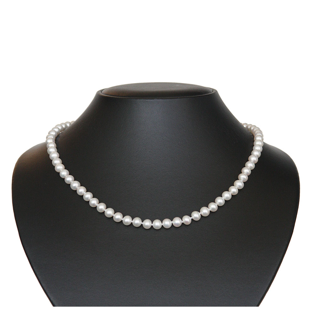 Pearl necklace-white 7 mm 1