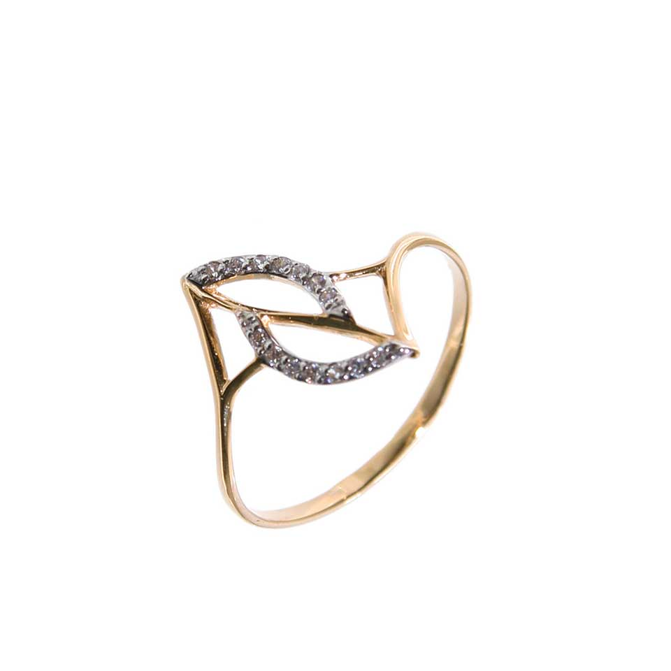 CZ rose gold ring 1