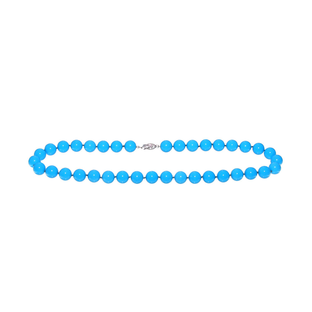 Stabilized Turquoise Necklace (10mm beads)