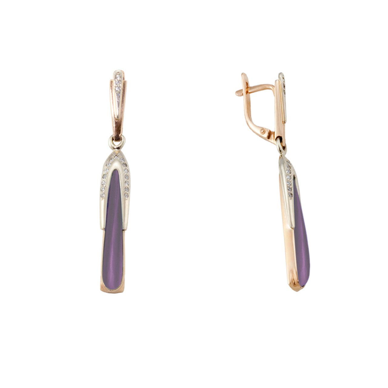 Elongated amethyst earrings 1