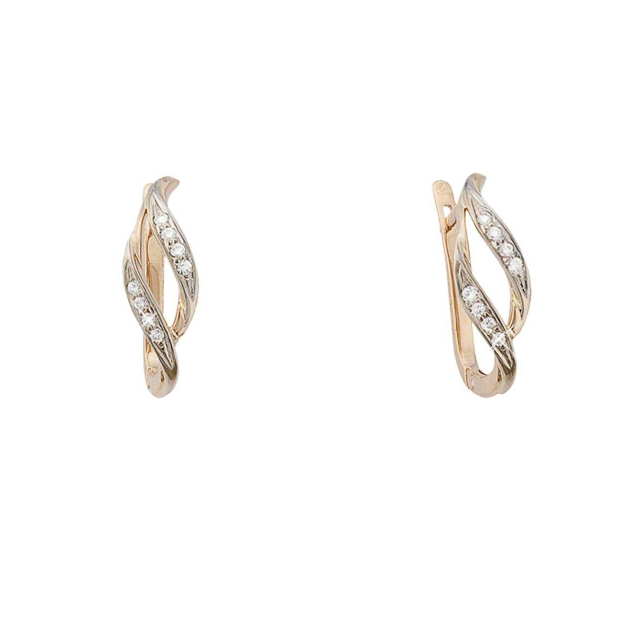 Elegant earrings with diamonds