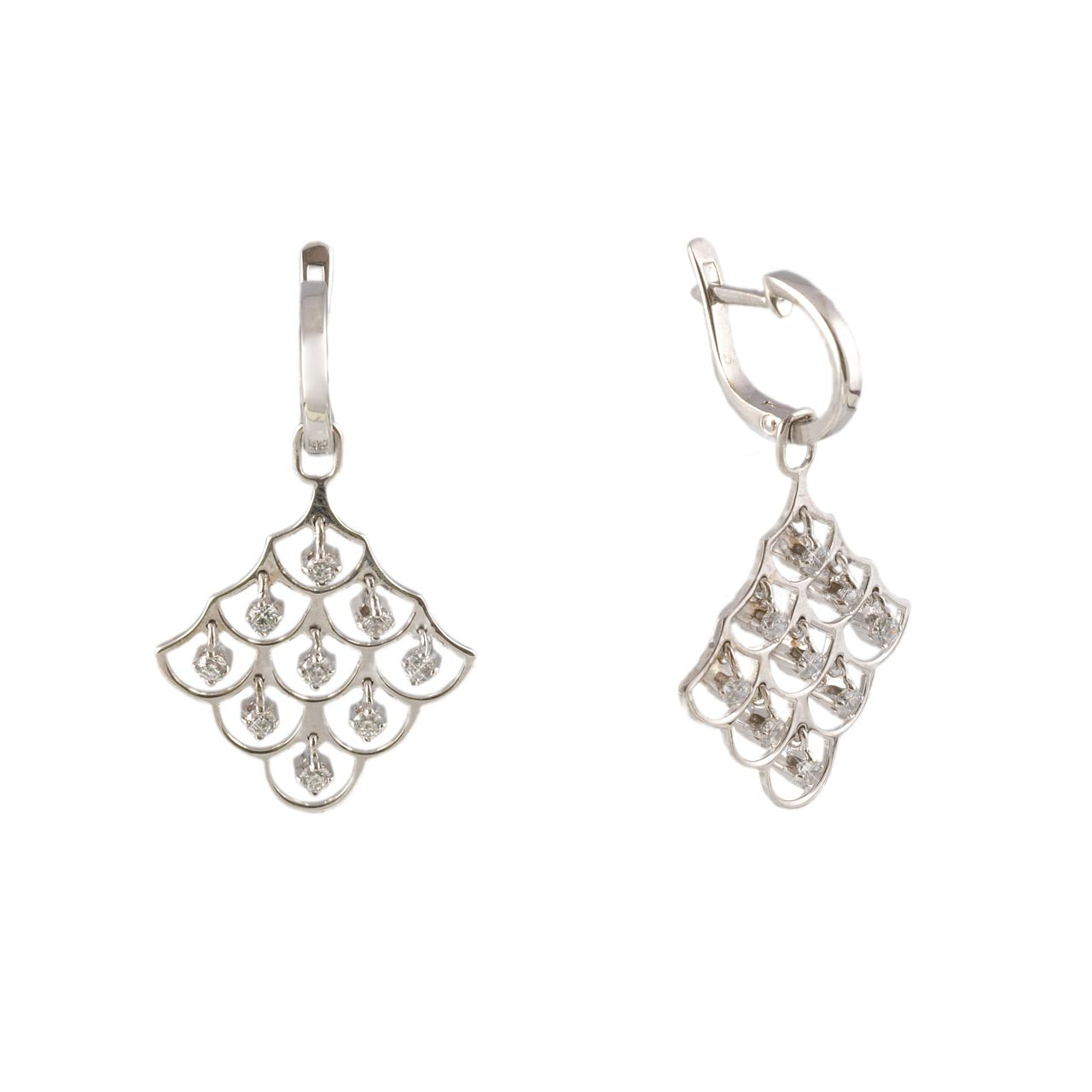 585º White Gold Earrings