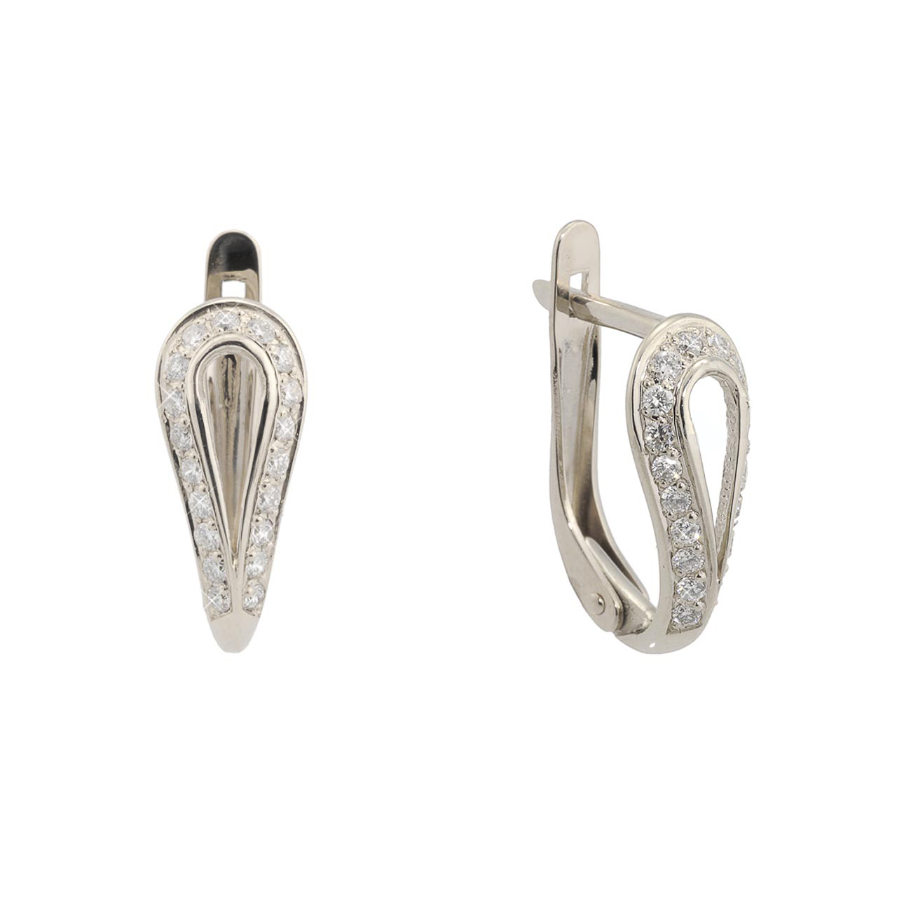 Leverback Diamond Earrings