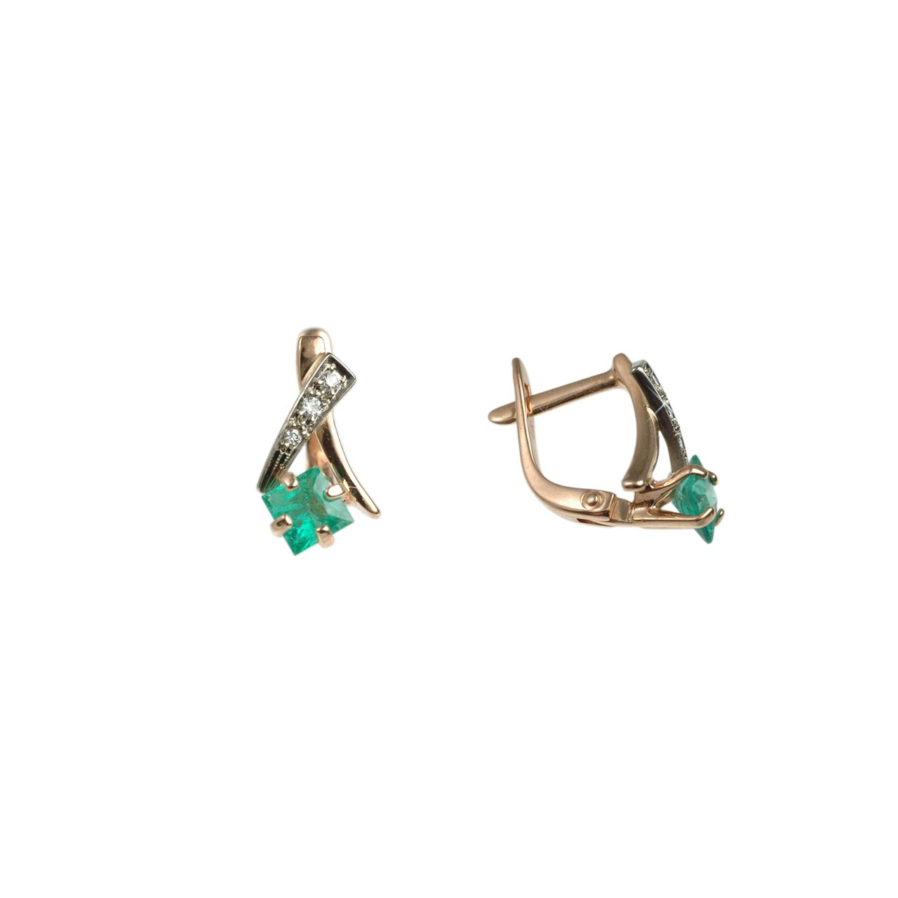 Emerald Leverback Earrings