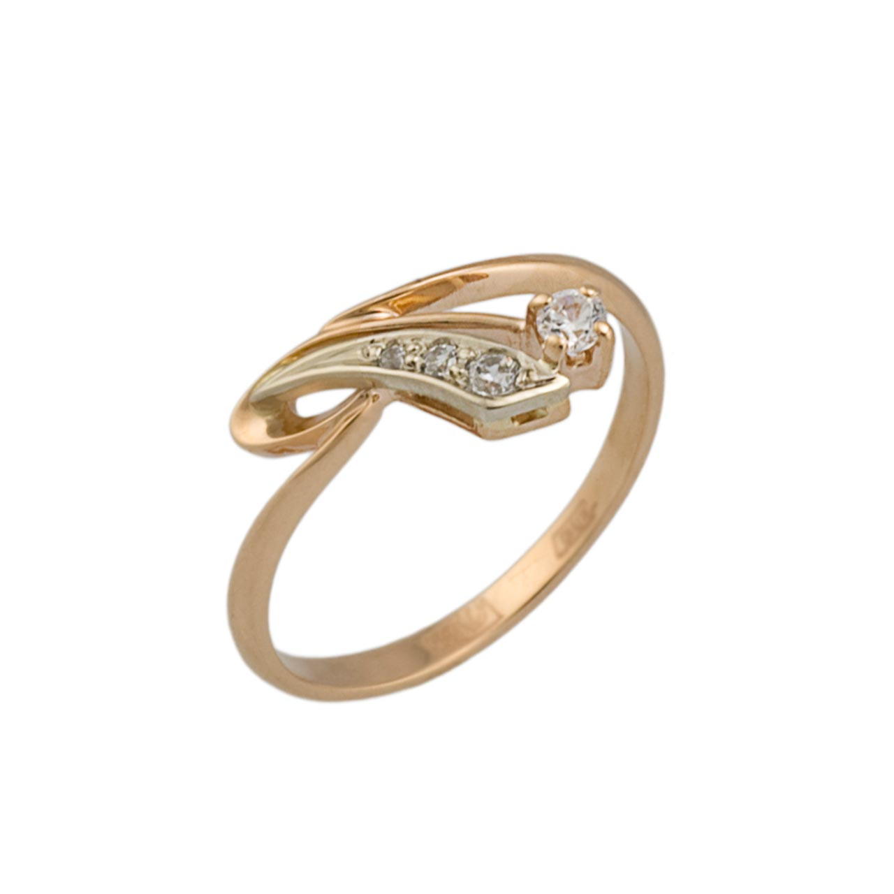 Russian CZ gold ring