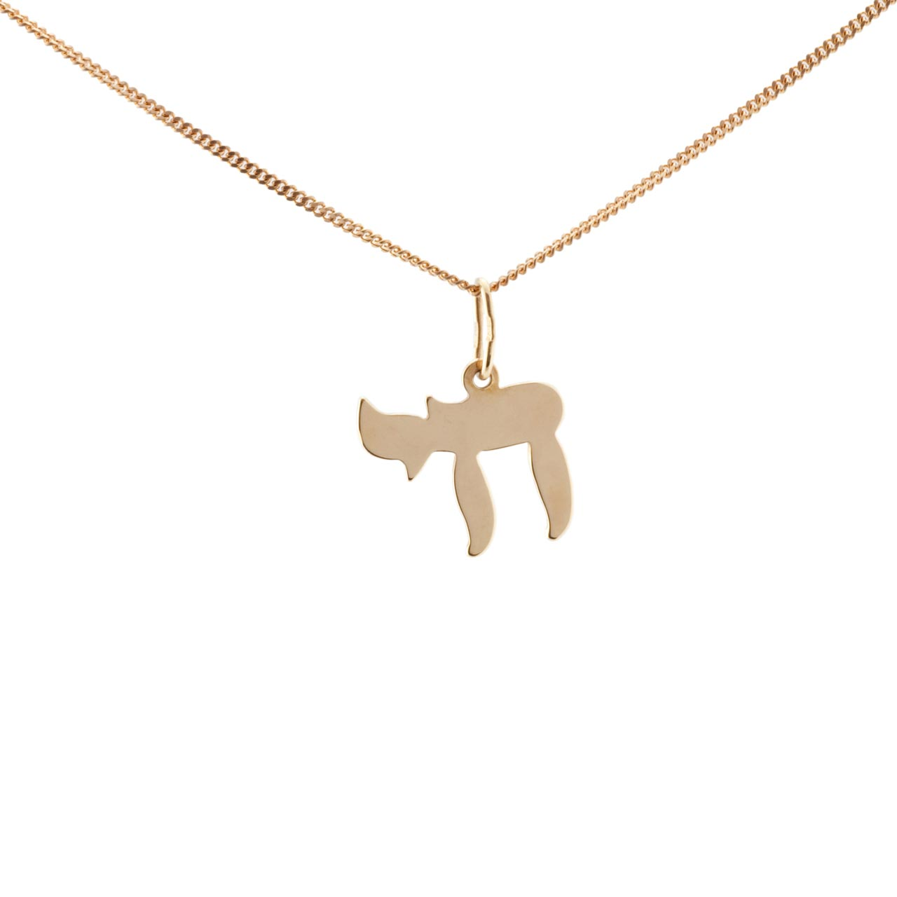 hop pendants necklace product handmade jewish hiphop retail jewellery steel gold pendant hot new chai symbol stainless exaggerated wholesale plated hip