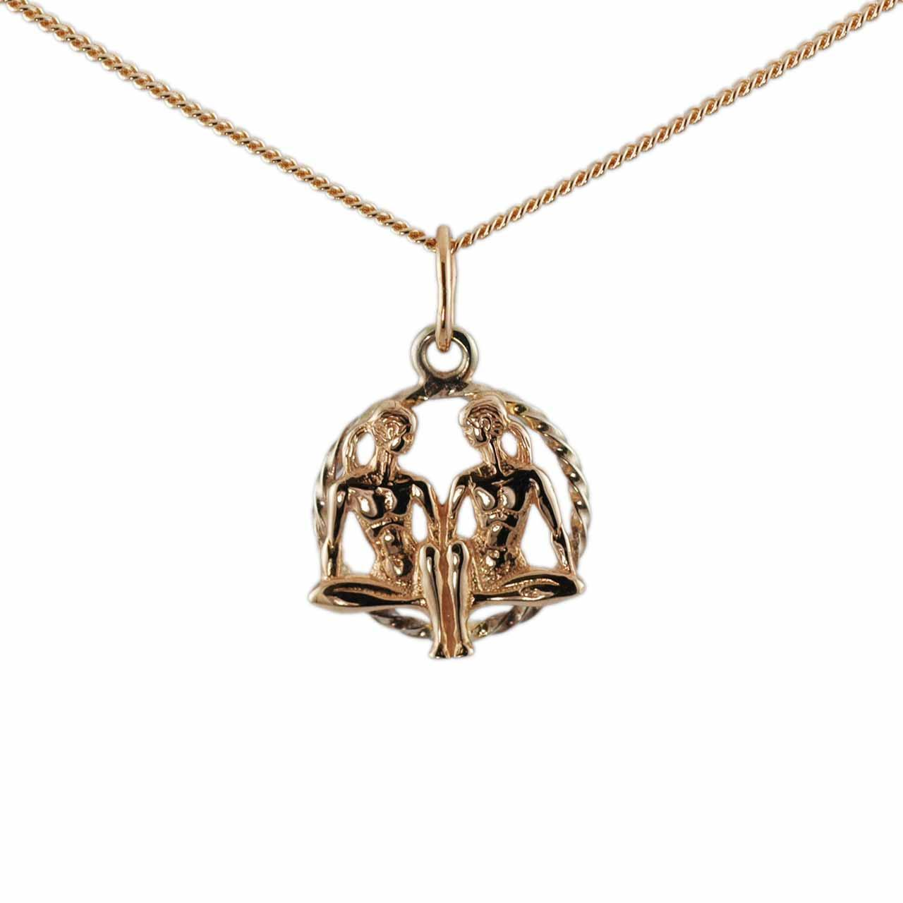 Twisted Wire Decor Pendant 'Gemini Zodiac'
