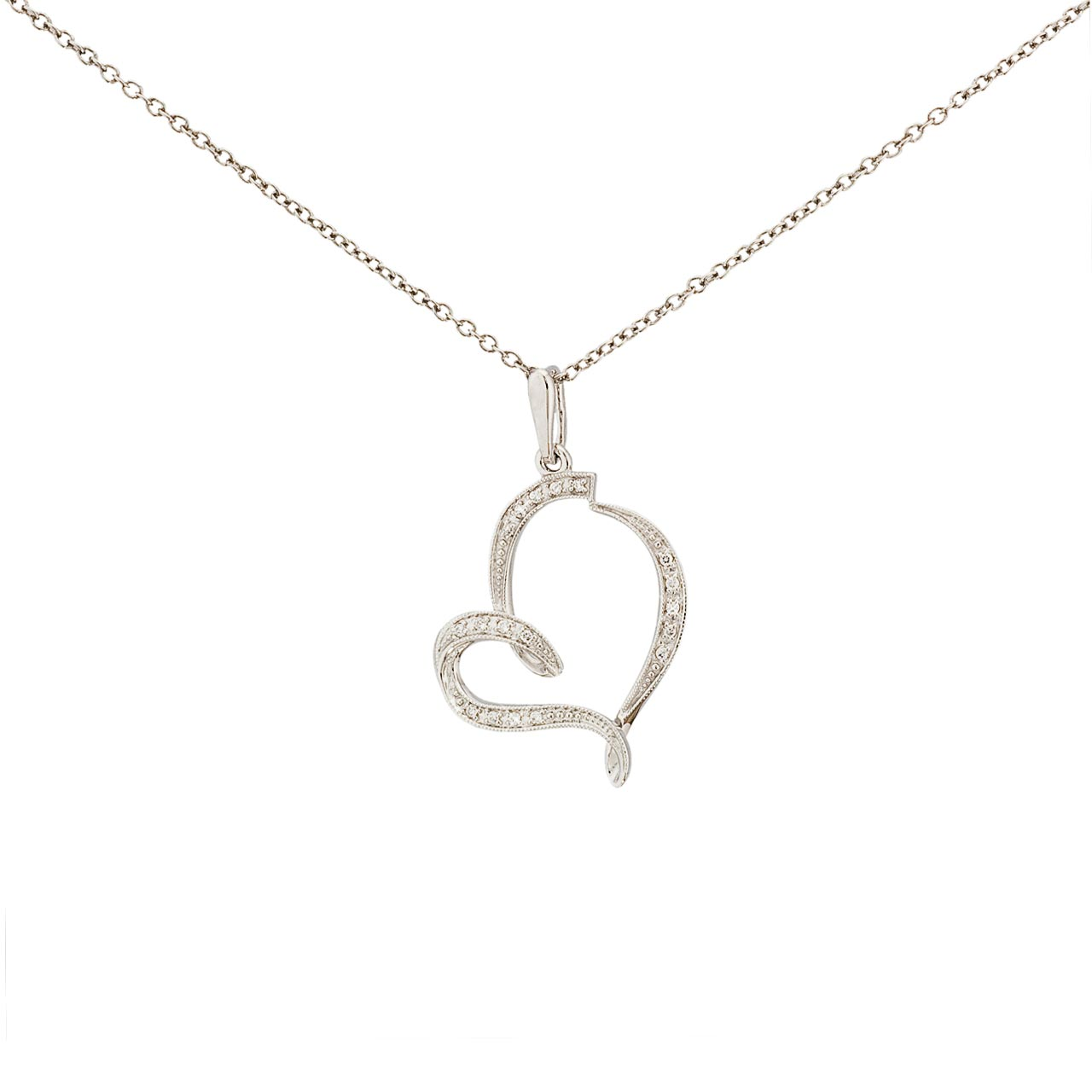White gold heart pendant 1