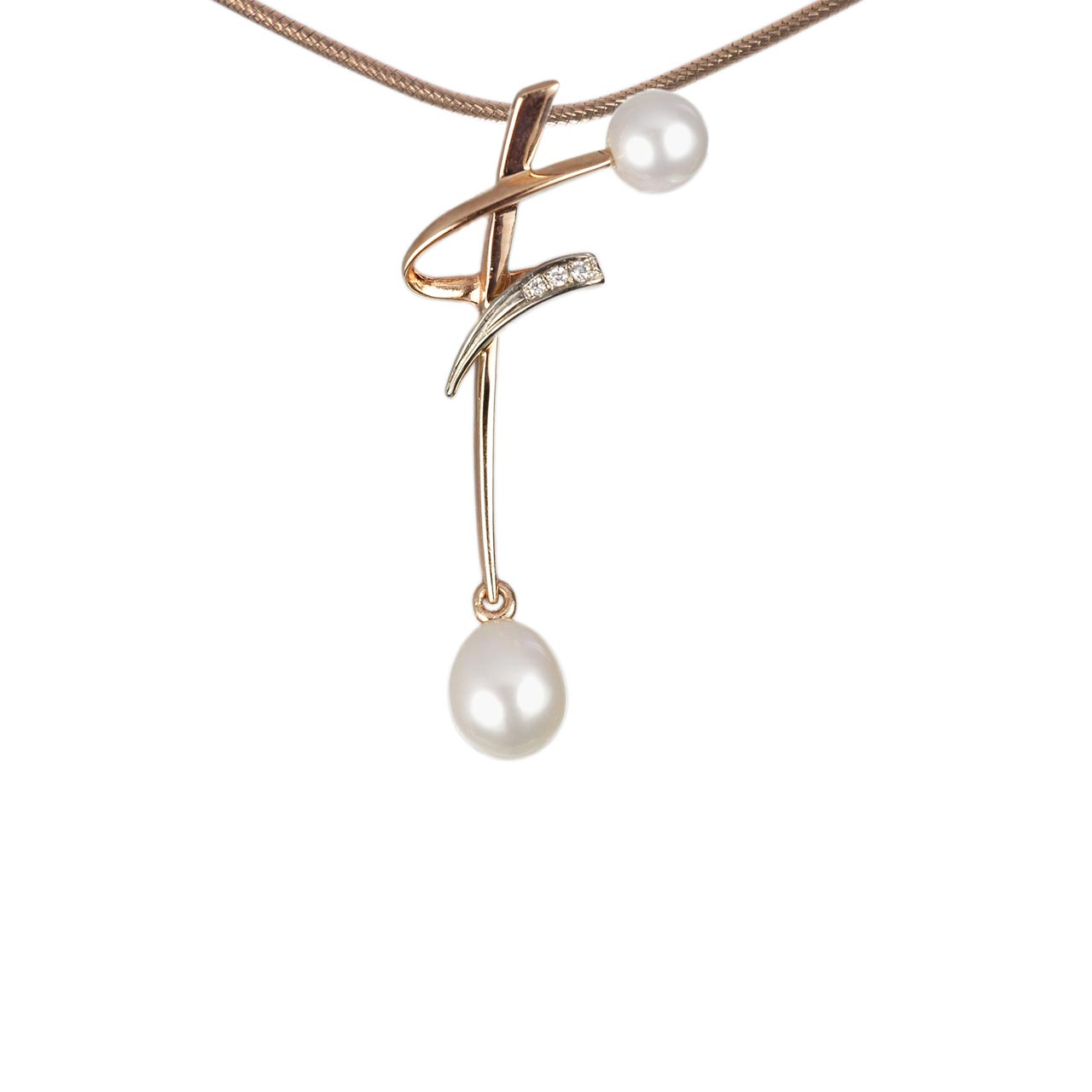 Japanese pearl gold pendant 1