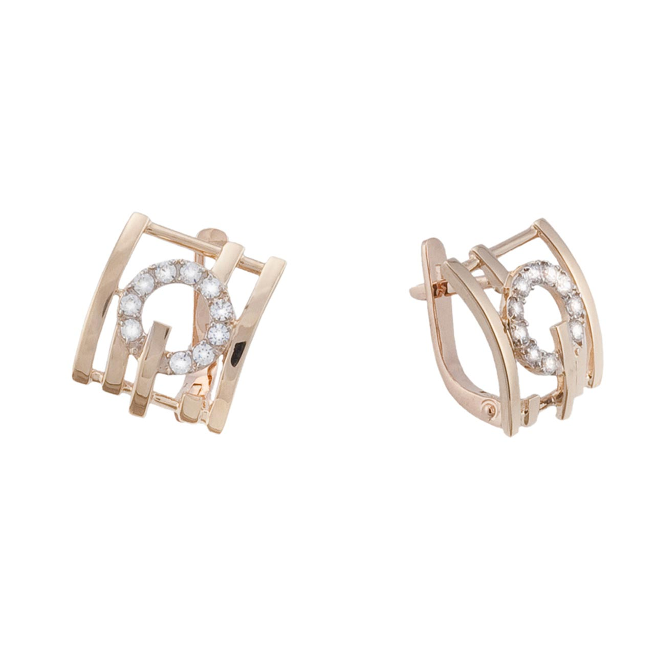 Rose gold earrings 1