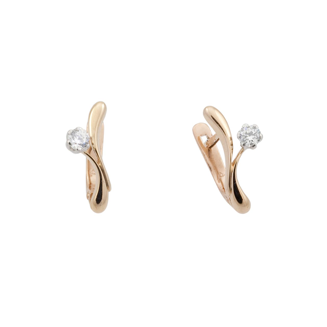 Solitaire CZ Teeny Earrings