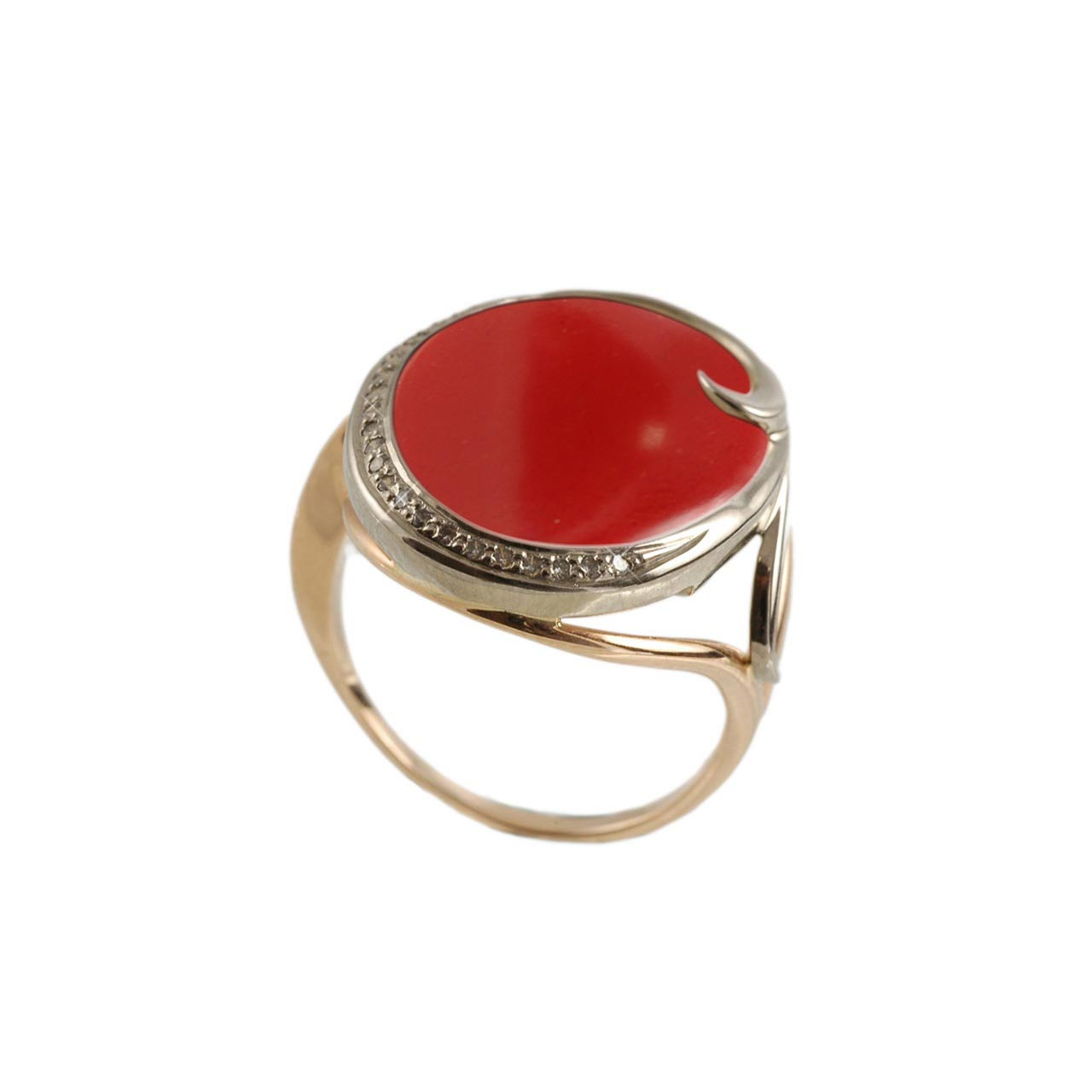 Red Coral Cocktail Ring