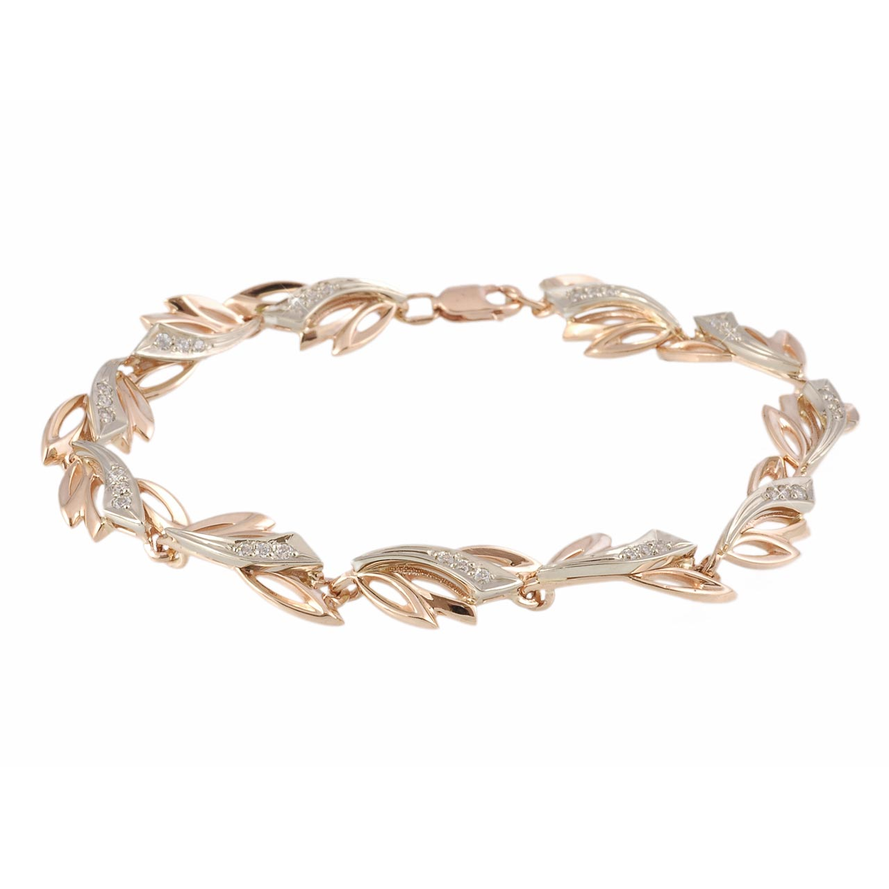 Russian gold bracelet with cubic zirconia 1