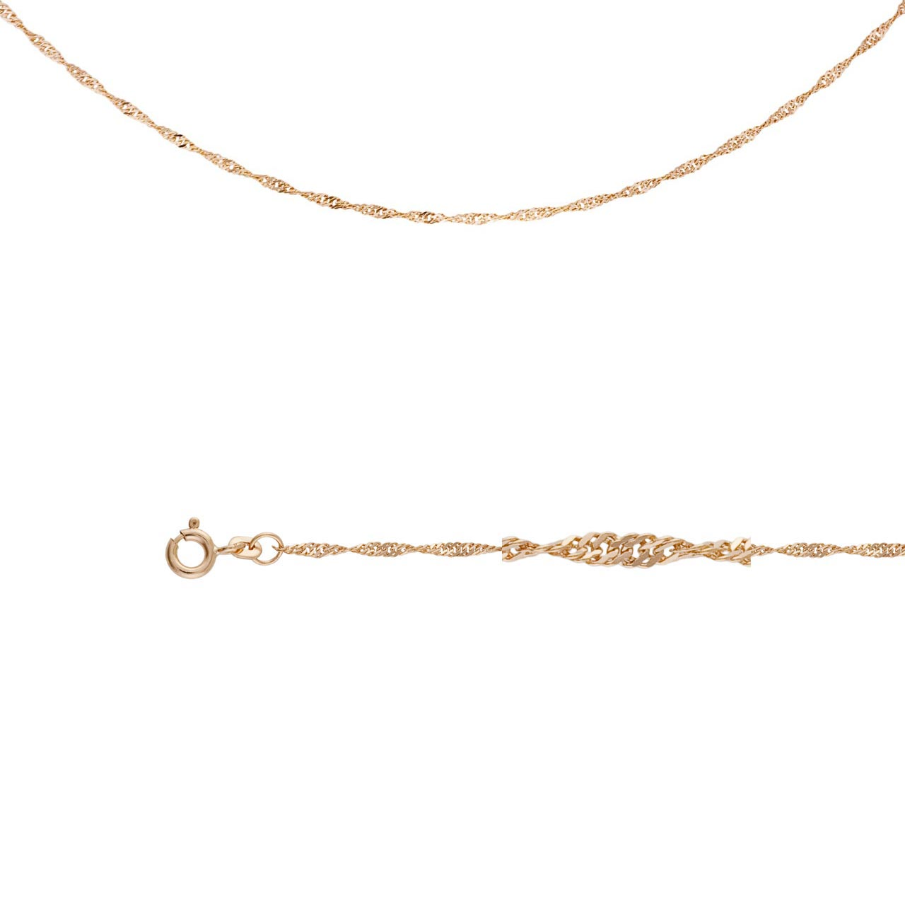 Singapore-link Chain (0.3 mm Gold Wires)