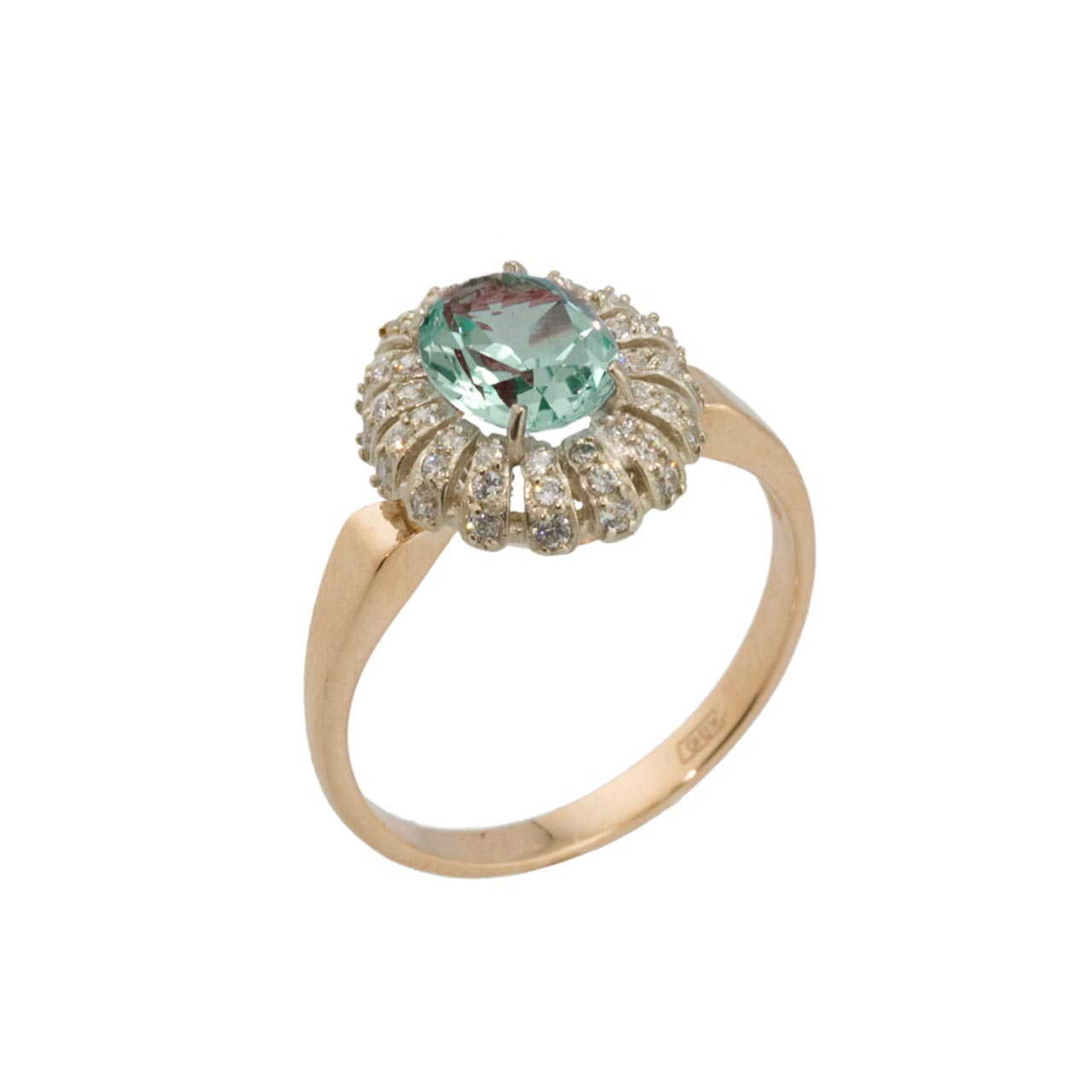 Faux Alexandrite Rose Gold Ring