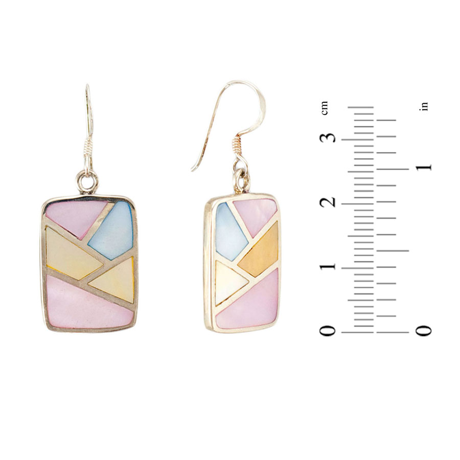 Multicolored Mother-of-Pearl Earrings