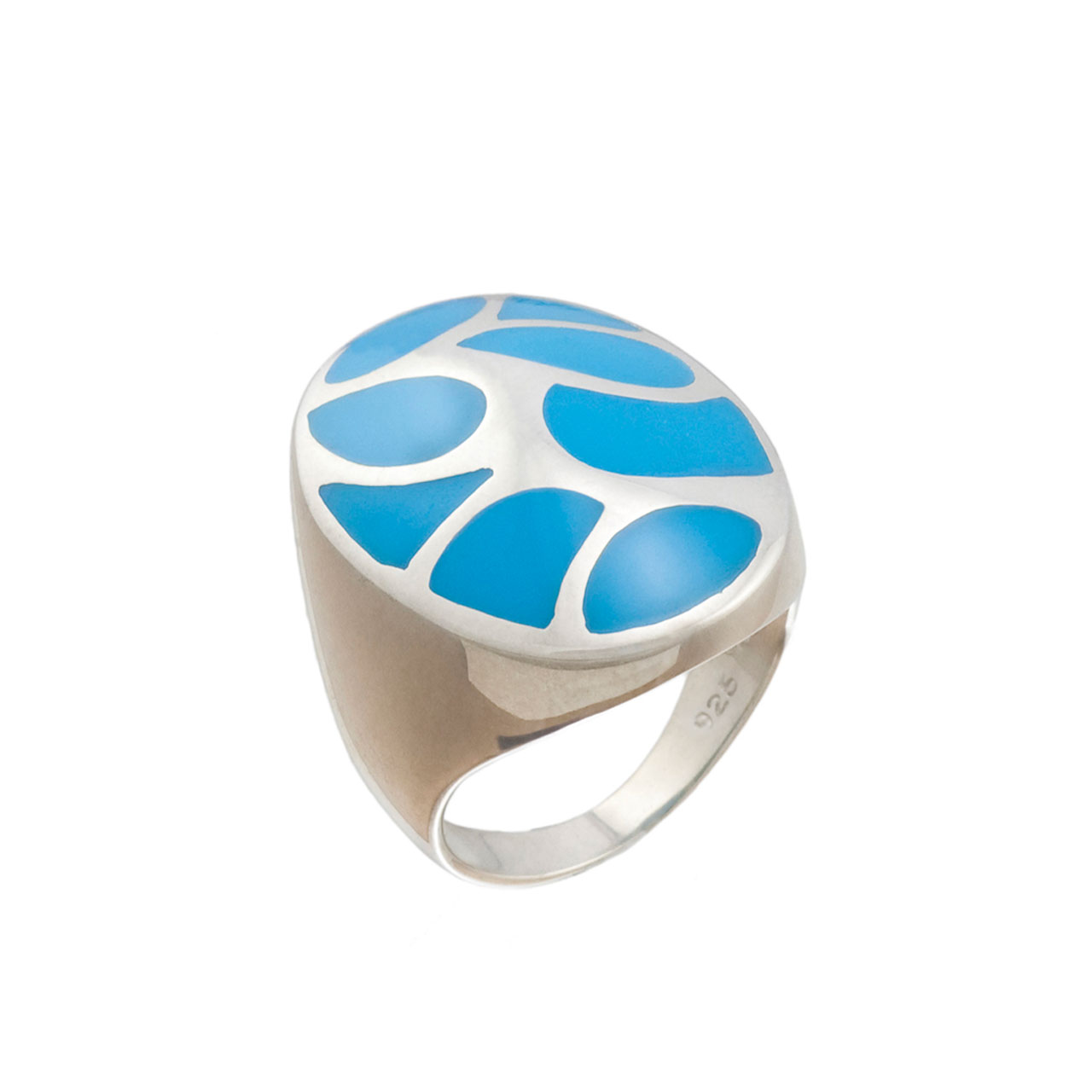 Turquoise Oval Dome Ring