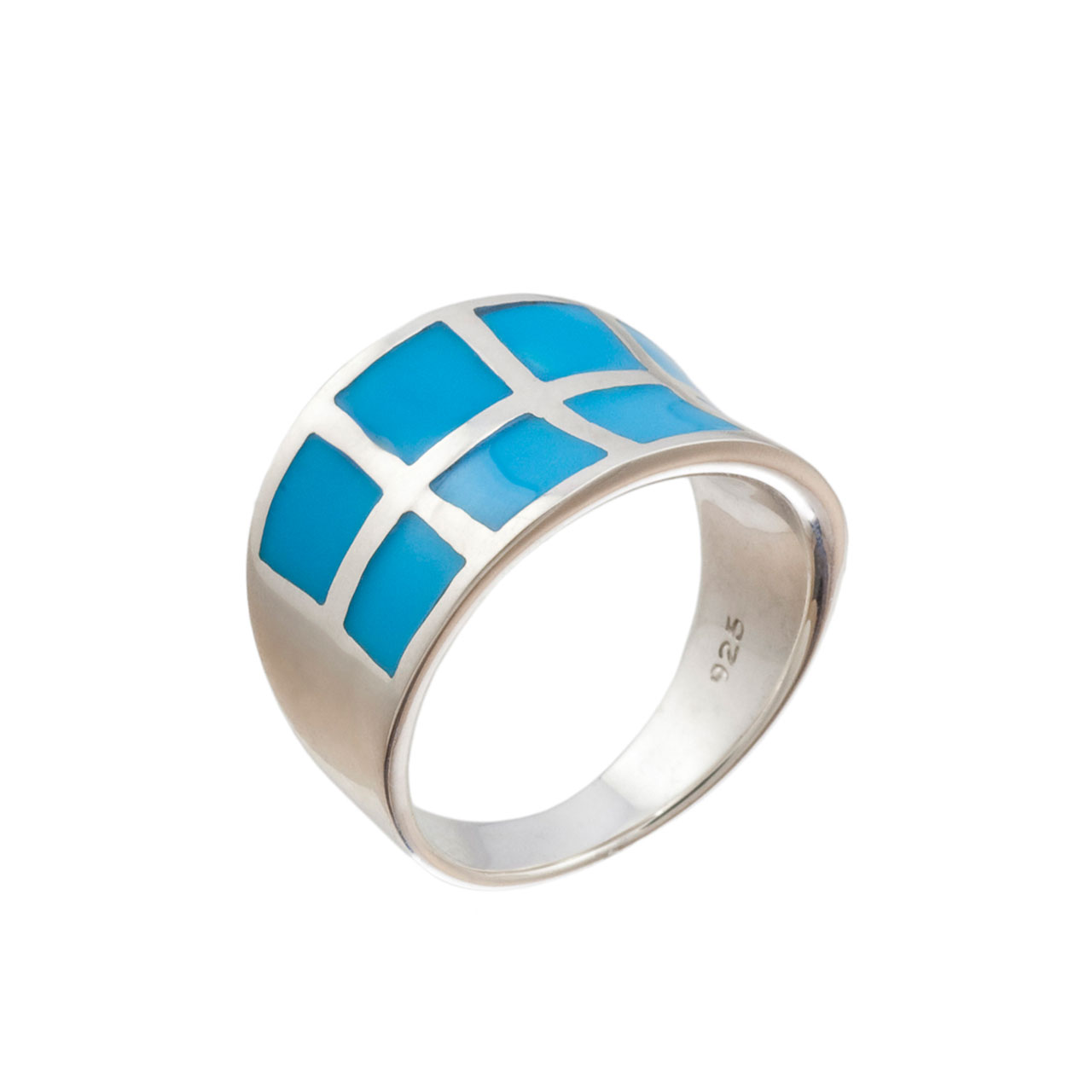 Turquoise Curved Band
