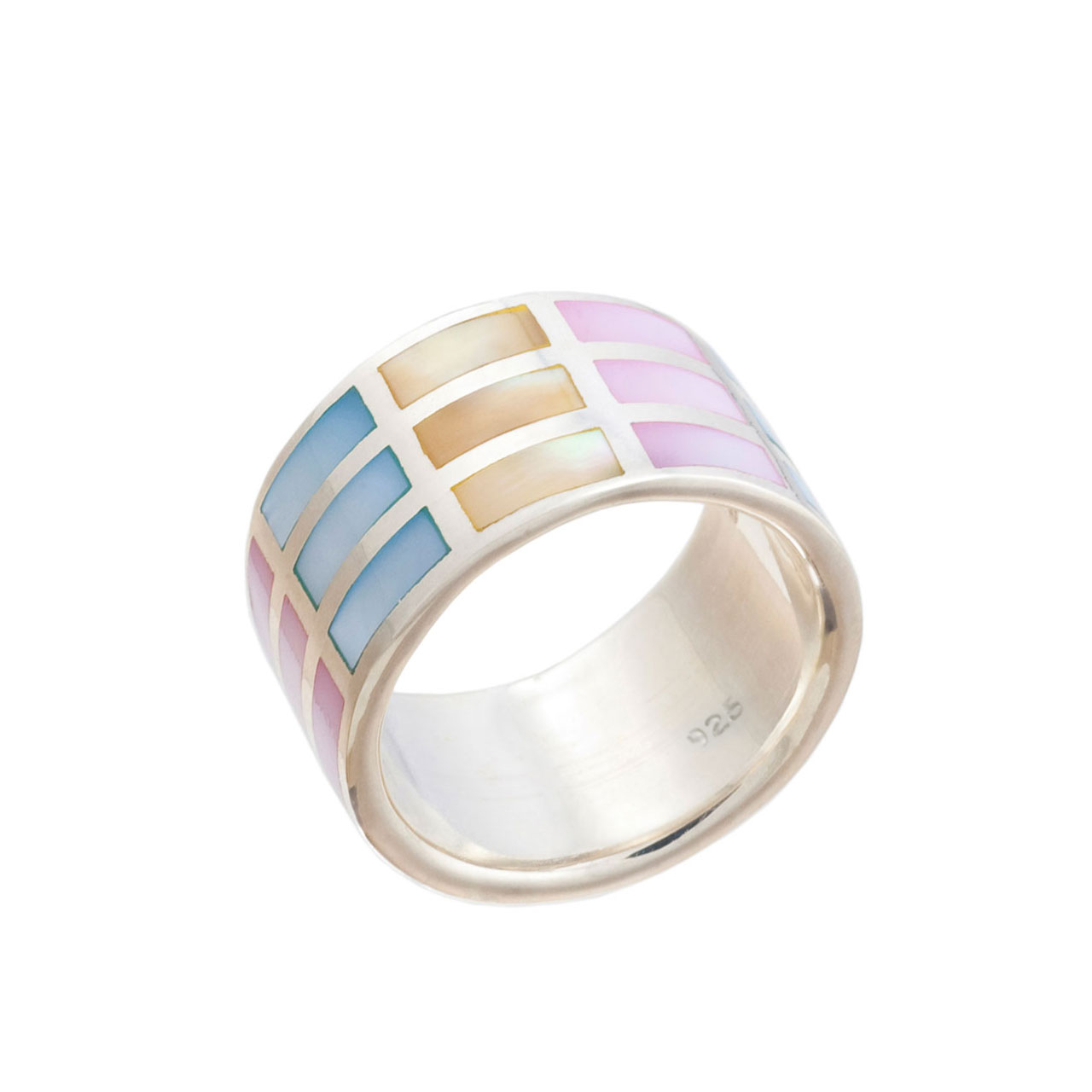 Multi-Colored Mother-of-Pearl Ring