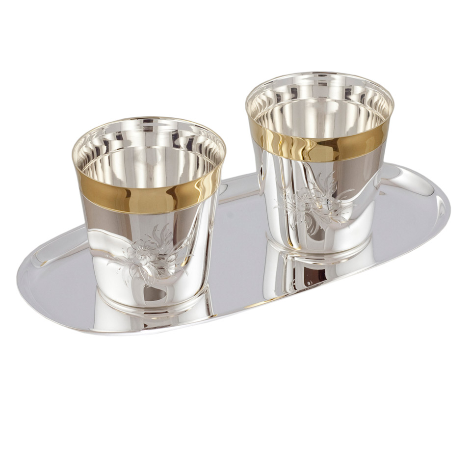 Silver Whisky Drinkware Set For Two