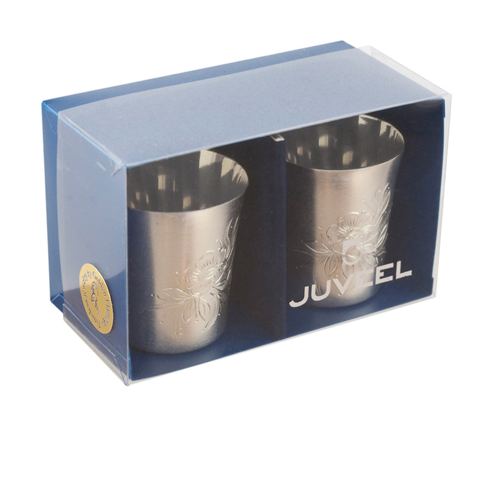 Vodka silver glass set 3