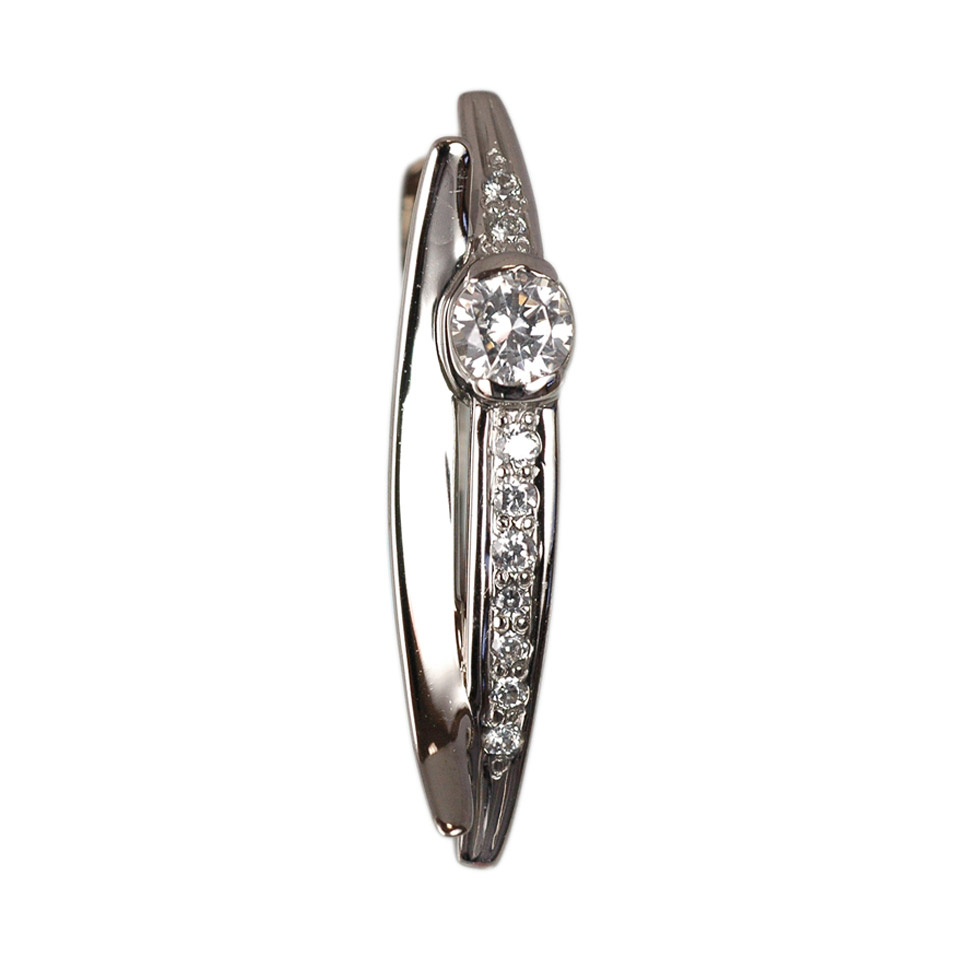 CZ Russian white gold ring 3