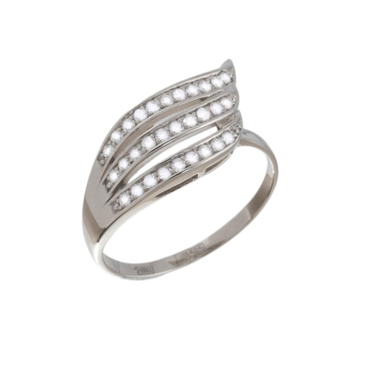 Triple Strip Diamond Ring