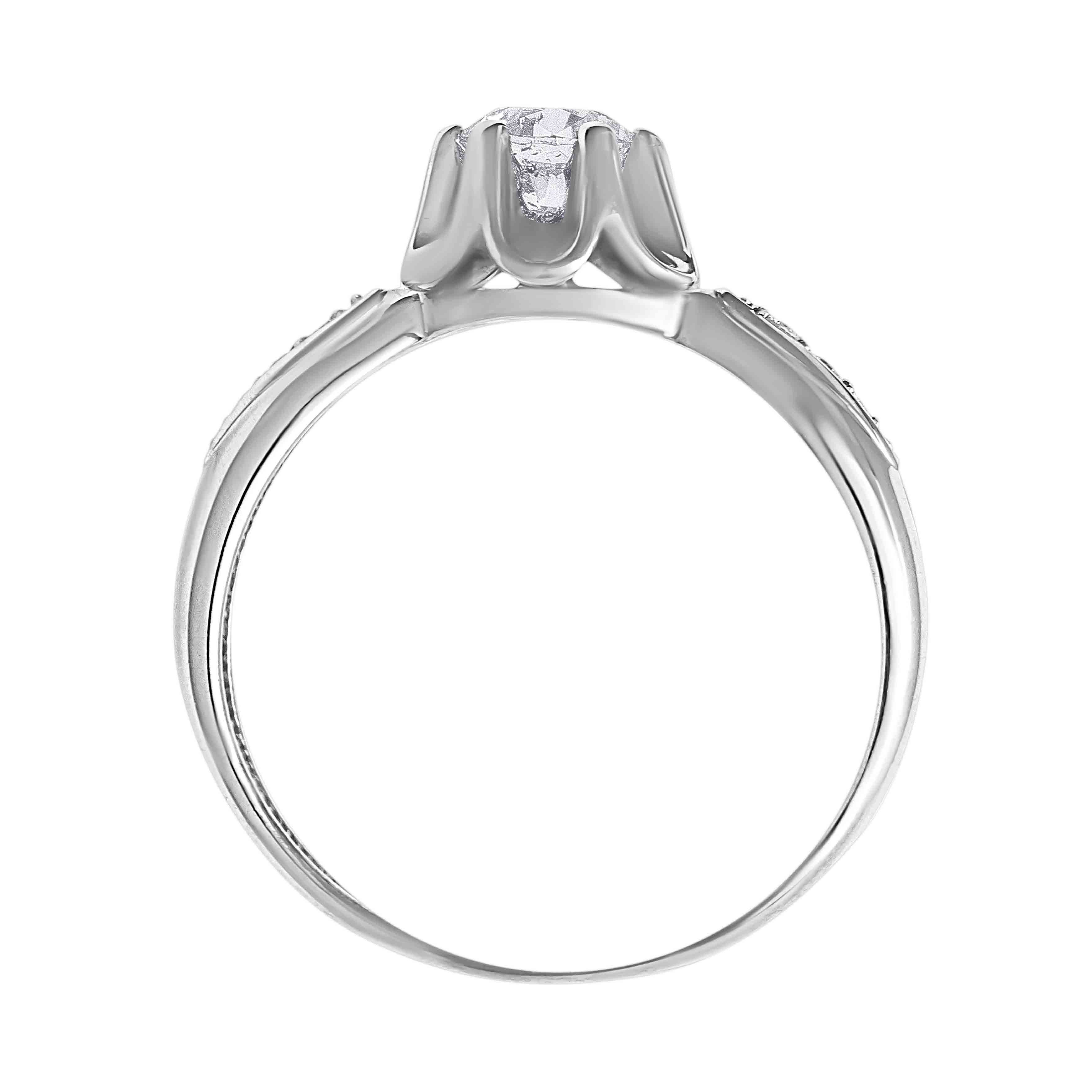 'Undimmed Radiance' 0.6ct Diamond Engagement Ring. View 3