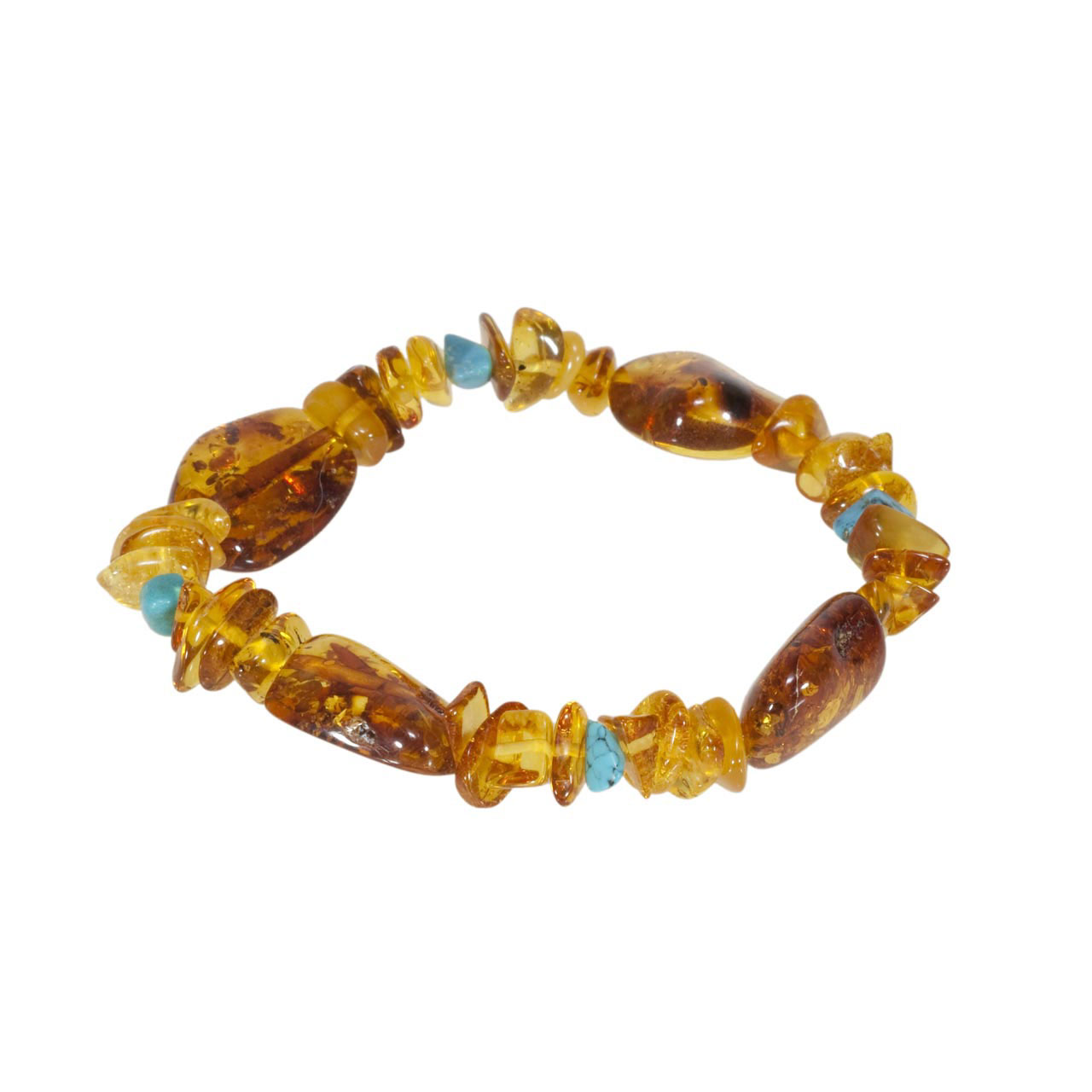Contemporary amber bracelet