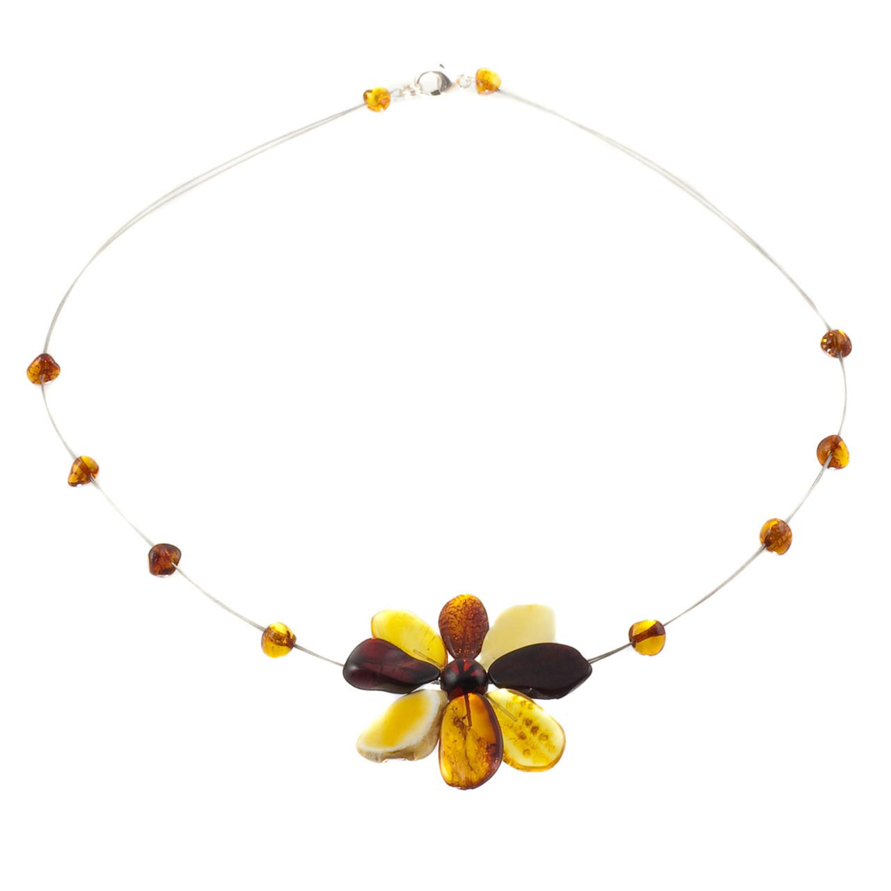 Amber flower necklace 1