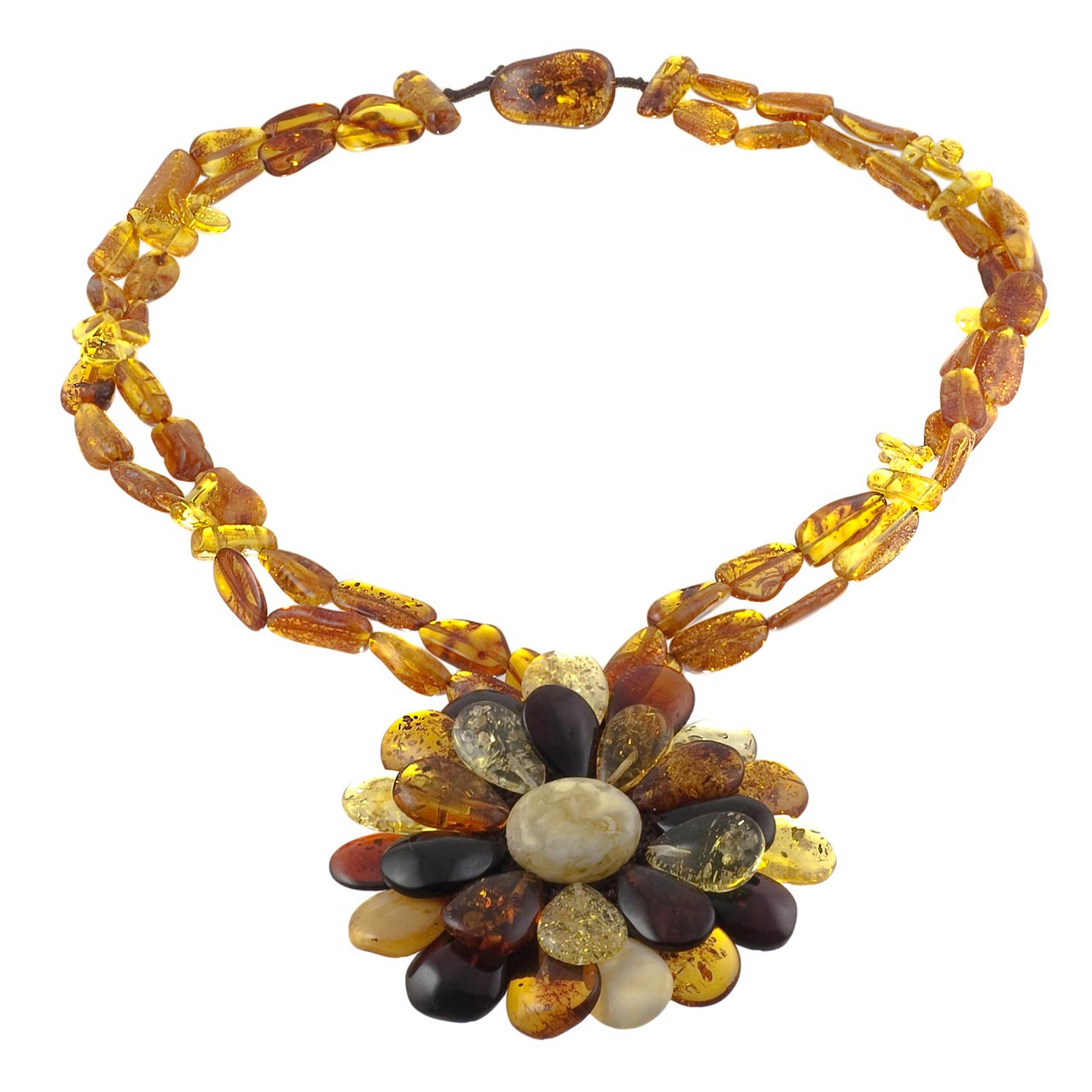 Amber Flower Necklace