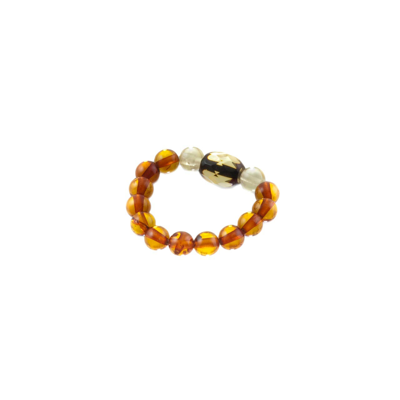 Multicolor Amber Stretch Ring