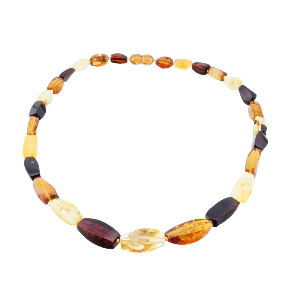 Multicolor Amber Beads