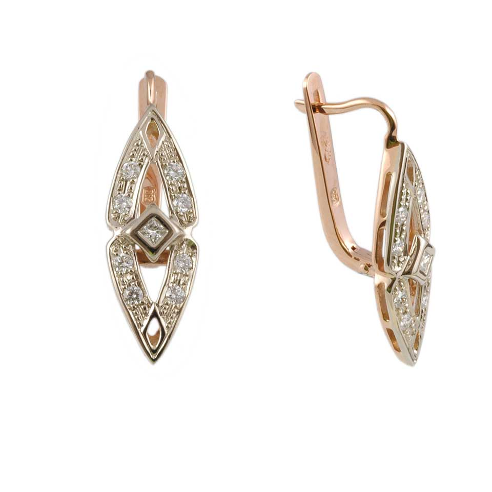 Byzantine-inspired Diamond Earrings