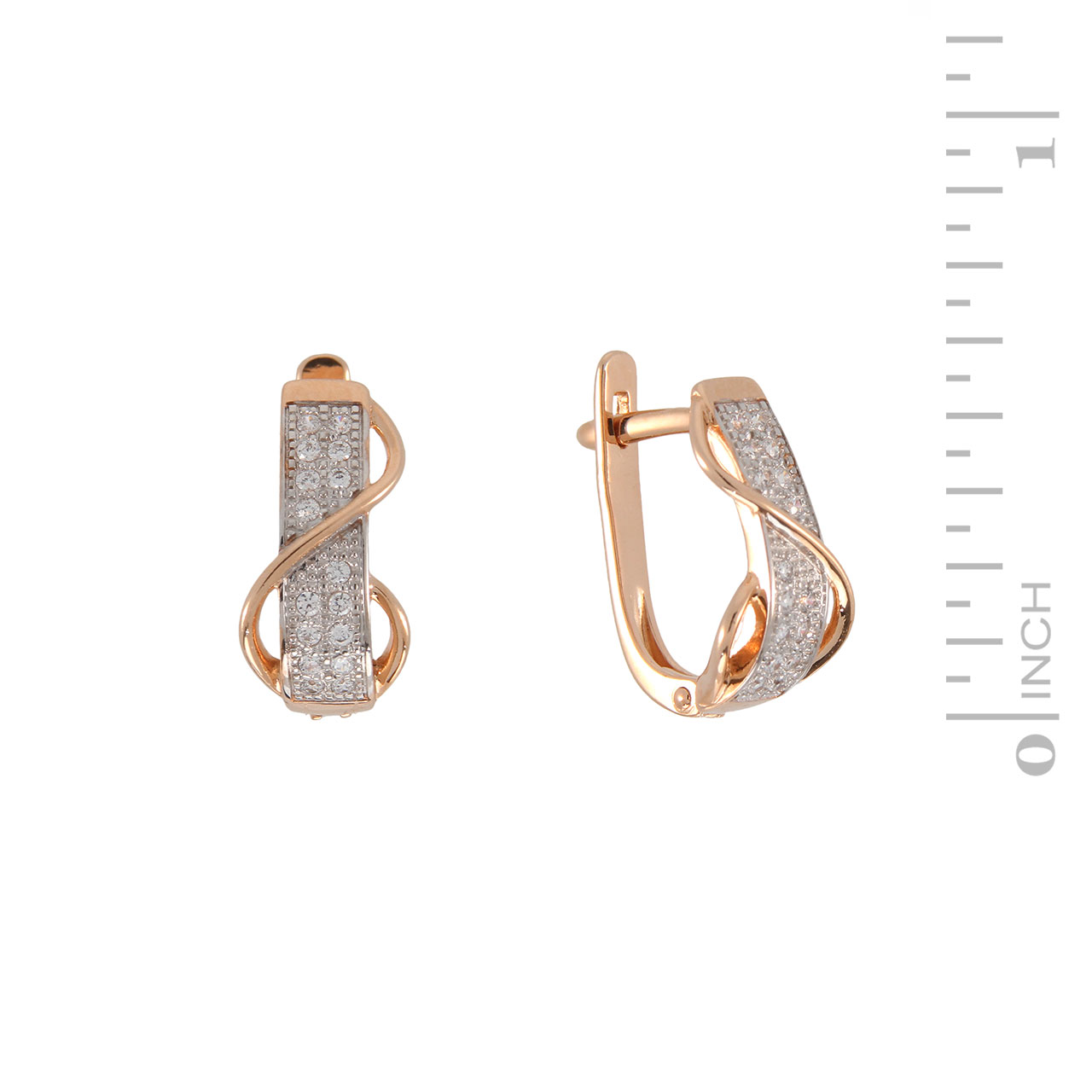 Rose gold sash earrings 1
