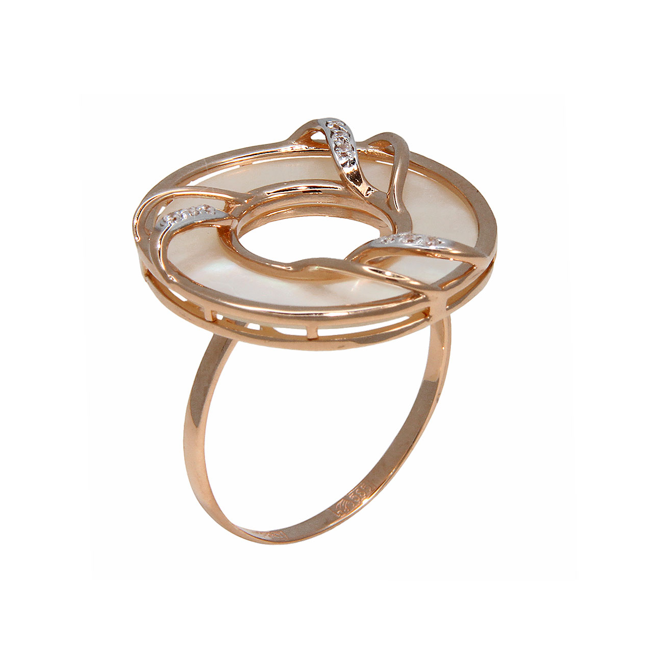 Cocktail gold ring 1