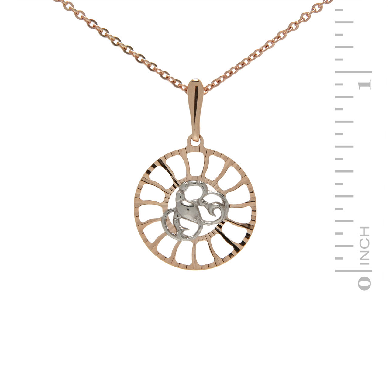 Sunburst-inspired Pendant 'Cancer Zodiac'