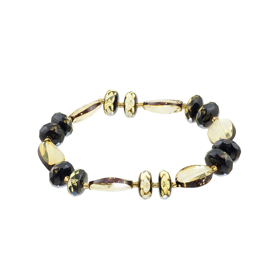 Green Amber Trendy Stretch Bracelet