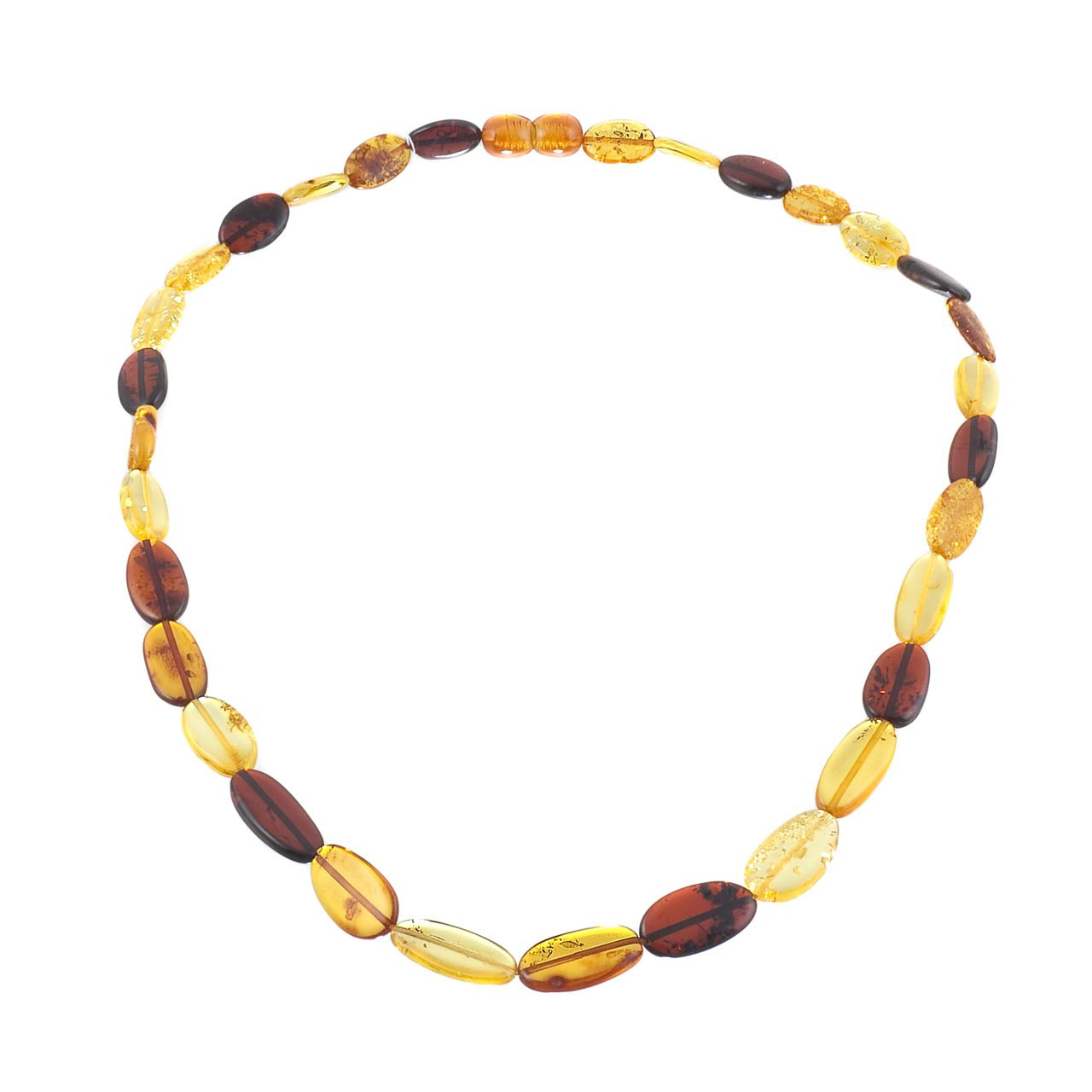 Oval Amber Beads