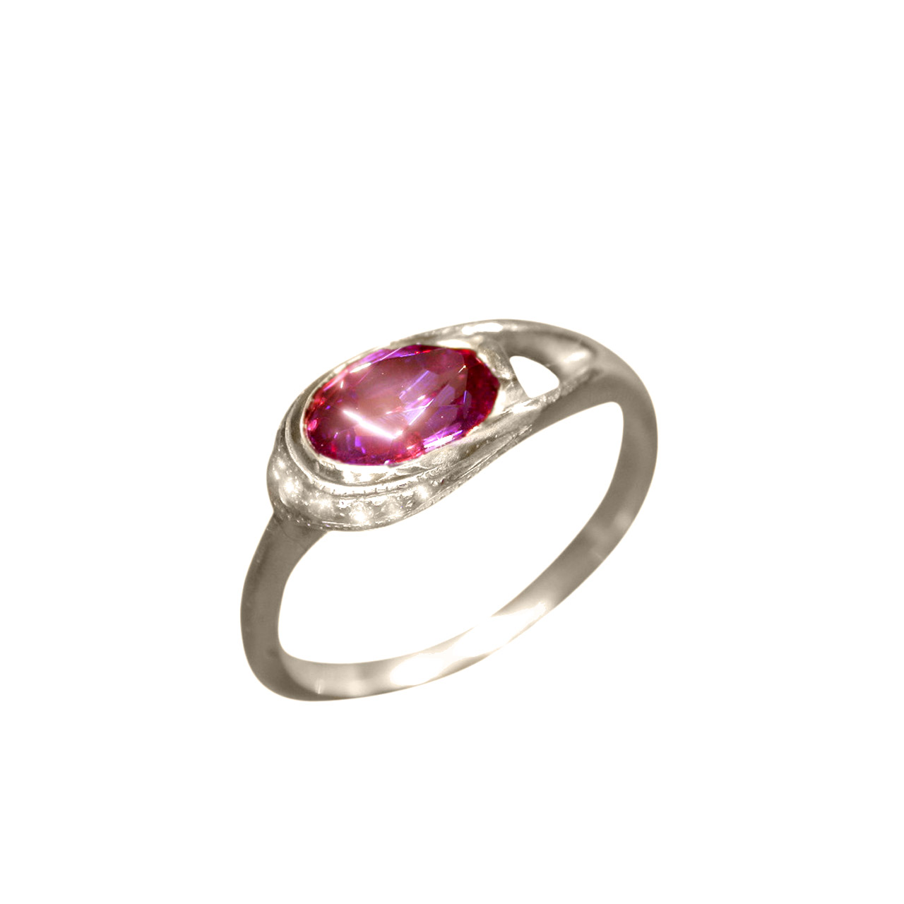 Garnet-Rhodolite & Diamond Ring
